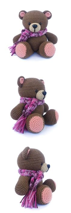 "amigurumi bear, ""Forever Friends"" bear, crochet bear, stuffed animal toy"