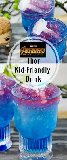 Marvels Avengers Infinity War Were celebrating with fun ideas Try our Avengers Thor KidDrink This is a Thor drink the whole family can enjoy Plus with Thor inspired birt. Birthday Party Drinks, Superhero Birthday Party, Birthday Ideas, Avengers Birthday Parties, 5th Birthday, Car Party, Birthday Recipes, Birthday Pictures, Avenger Party
