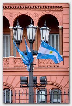La Casa Rosada, Buenos Aires, Argentina THis is a picture of the amazing Argentinian flag in La Casa Rosada