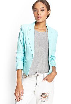 Ruched Sleeve Blazer | FOREVER21 #SummerForever