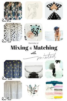Mixing and Matching with Minted | How to Mix and match prints