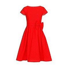 Little Misdress - Orange cap sleeve bow waist dress