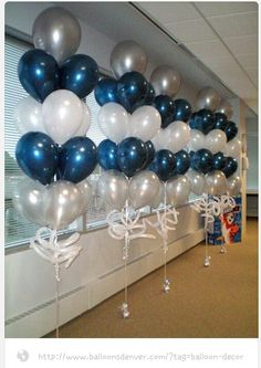 BALLOON CENTERPIECES ideas for Balloon Decorations, big collection of the Balloon bouquets, We provide best design arrangement for Balloons bunch set Blue Party Decorations, Birthday Decorations, Party Themes, Wedding Decorations, Party Ideas, Wedding Centerpieces, Decor Wedding, Winter Centerpieces, Balloon Centerpieces