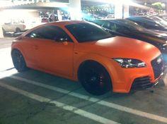Audi tt wrapped flat orange
