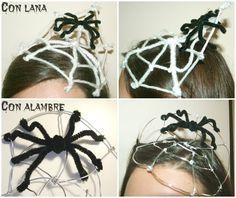 Halloween: ¡Tocado y diadema que dan miedo!! ~ Mery bloguera