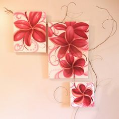 Nature and flowers Vancouver Island, Flower Art, Gift Wrapping, Gallery, Nature, Flowers, Pink, Gifts, Painting