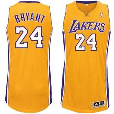 b4b8c1944 Kobe Bryant Los Angeles Lakers adidas Home Authentic climacool Jersey -  Gold Gold Adidas