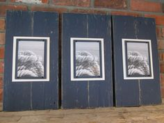 Set of 3 Long Navy Plank Frames for 5x7 Photo