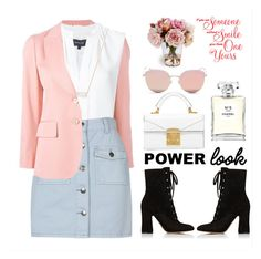 """""""What's your Power look?  (THANK YOU 3K FOLLOWERS)"""" by soranamikaze ❤ liked on Polyvore featuring Gucci, Derek Lam, MINKPINK, Gianvito Rossi, Kendra Scott, Stephane + Christian, Chanel, contestentry, polyvorecontest and polyvorefashion"""