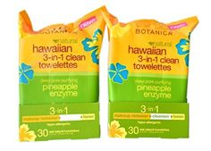 Alba Botanica Hawaiian 3-in-1 Clean Towelettes 30 Count (Pack of 2)