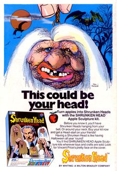 Comic Book Stuff. shrunken heads promoted by vincent price
