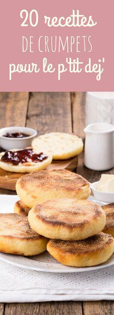 20 recettes faciles de crumpets, ces petits muffins anglais parfaits pour un brunch ou un petit déjeuner ! Easy Crumpets Recipe, Perfect Breakfast, Low Carb Recipes, Easy Recipes, Donuts, Food To Make, Breakfast Recipes, Food Porn, Snacks