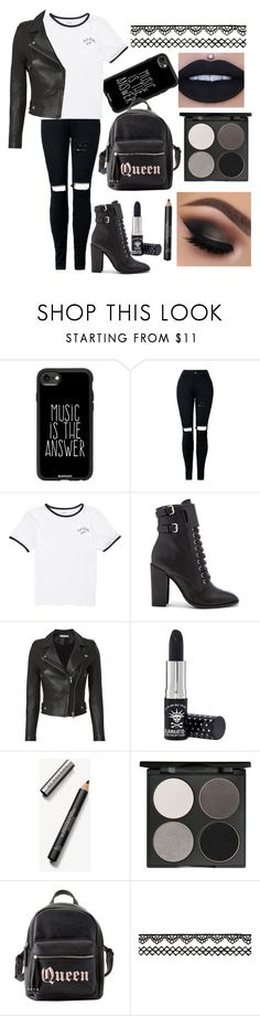 """""""Queen"""" by aw032717 ❤ liked on Polyvore featuring Casetify, Vans, Schutz, IRO, Manic Panic NYC, Burberry, Gorgeous Cosmetics and Charlotte Russe"""