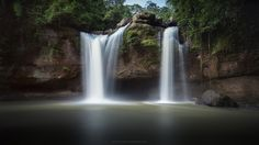 Long exposure of Haew Suwat Waterfall.    Khao Yai National Park, Thailand
