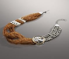 Multi-Stranded Knot Necklace (Opus Magnum Collection) Inspired by Classics, this choker Necklacess in Si