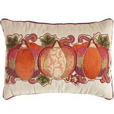 Beaded Pumpkin Lumbar Pillow | Pier 1 Imports