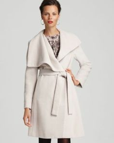 Olivia Pope's coat...looooove! Calvin Klein Premium Shawl Collar Belted Coat | Bloomingdale's