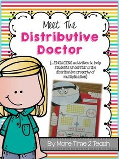 Do your students struggle to understand and remember the distributive property of multiplication? Mine usually do thats why I developed the concept of the Distributive Doctor. When teaching a difficult concept, such as the distributive property of multiplication, I like to begin with the concrete (manipulatives), progress to the representational (drawing pictures of the manipulatives previously used), and end with the abstract (using only numbers and mathematical symbols).