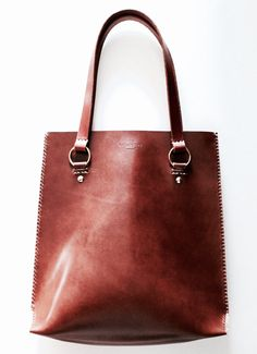 Leather Tote Laptop Bag handmade in Australia by EcoCollectiveAus