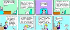 Cognitive Dissonance - The Dilbert Strip for August 9, 1992