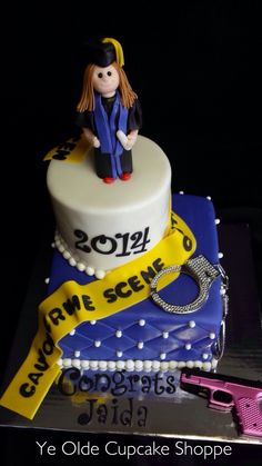 Criminal Justice Graduation Cake for when I graduate from Tarleton with my Masters!!!