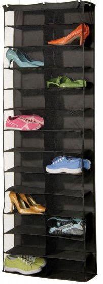 Over Door 26 Pair Shoe Holder - Black - Dorm closet shoe organizer hanging shoe organizer dorm room space saver campus essentials Hanging Shoe Rack, Shoe Hanger, Hanging Shoe Organizer, Hanging Shoes, Hanging Closet, Hanging Storage, Shoe Racks, Wall Hanger, Shoe Storage Organiser