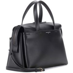 Balenciaga Portfolio Sac Leather Tote (26.634.835 IDR) ❤ liked on Polyvore featuring bags, handbags, tote bags, leather handbag tote, tote purses, leather purses, real leather tote bag and genuine leather tote bags