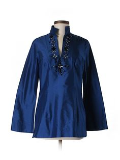 Check it out - Kay Unger Long Sleeve Silk Top for $47.49 on thredUP!