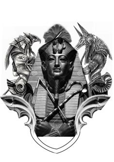 Egyptian Eye Tattoos, Egyptian Tattoo Sleeve, Egyptian Drawings, Egyptian Art, Black Men Tattoos, Arm Tattoos For Guys, Tattoo Sleeve Designs, Sleeve Tattoos, Anubis And Horus