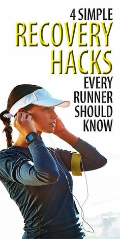 These four recovery hacks will help you nurse your sore muscles back into shape before your next run #musclerecovery #runningtips #runningrecovery