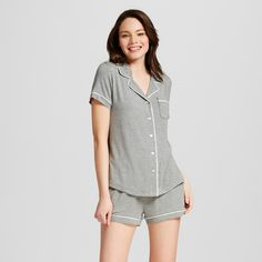 a52fc9b346 Make any night instantly cozier with this Women s Pajama Set Total Comfort  by Gilligan   O Malley™. The short sleeves keep it lightweight