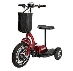 Drive Medical Zoome Three Wheel Recreational Power Scooter Red - Electric Scooters - Ideas of Electric Scooters Electric Scooter With Seat, Electric Tricycle, Best Scooter, Trike Scooter, Third Wheel, Bicycle Maintenance, Converse, Medical, Vehicles