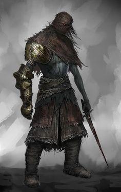 The Ragged Wight, Swordsman in the Death Knights of the Insidium High Fantasy, Dark Fantasy Art, Medieval Fantasy, Fantasy Rpg, The Revenant, Fantasy Warrior, Warrior Angel, Fantasy Character Design, Character Art