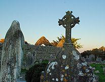 Cross at St Declan's Hermitage  Monastery Cemetery Armore Ireland
