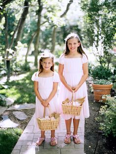 Soft pink flower girl dresses. Photo by Leo Patrone.
