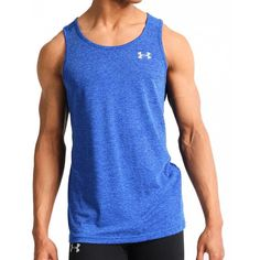 bfb79e75cb2ff Under Armour Mens UA Threadborne Streaker Fitted Tank Shirt 2XL Blue  1271822-789  Nike