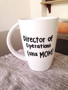 Mothers day coffee cup director of operations by OhhCoco on Etsy, $14.00