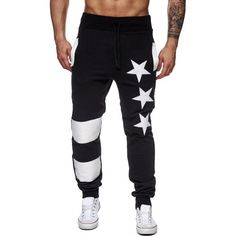 16.09$  Watch here - http://dit2j.justgood.pw/go.php?t=199429604 - Star Printed Splicing Drawstring Waist Jogger Pants