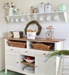 Adding Natural Texture in a White Kitchen