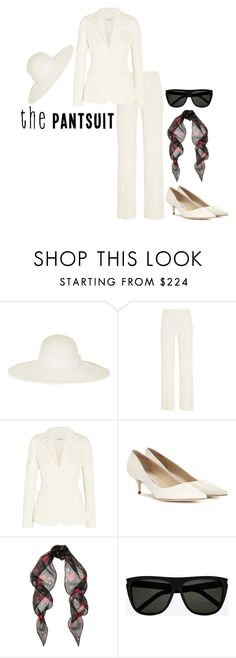 """""""Untitled #3311"""" by injie-anis ❤ liked on Polyvore featuring Sensi Studio, Altuzarra, Jimmy Choo, Yves Saint Laurent and thepantsuit"""