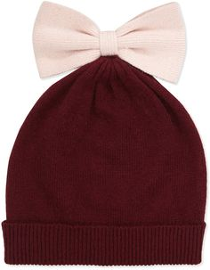 36a7621e775197 kate spade COLORBLOCK BOW BEANIE HAT ONE SIZE RICH NAVY CREAM ALL THE  TRIMMINGS #fashion #clothing #shoes #accessories #womensaccessories #hats…