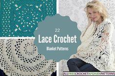 22 Lace Crochet Blanket Patterns