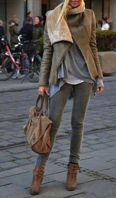 Street style neutral layered outfit | Latest fashion trends