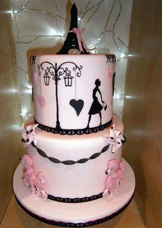 Paris Themed Birthday Cake Cakes  Pinterest Birthday Cakes - Birthday cake paris