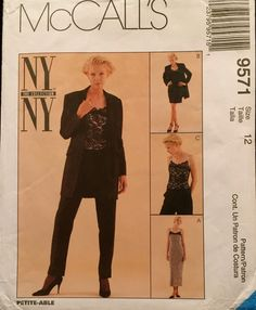 Vintage McCalls NY NY Collection Lined Dress In Two by wrapsETC