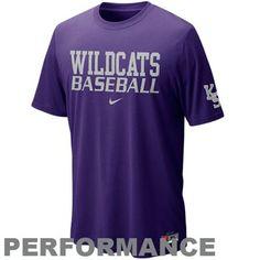 Nike Kansas State Wildcats Baseball Practice Cotton Performance T-Shirt - Purple, $27.95