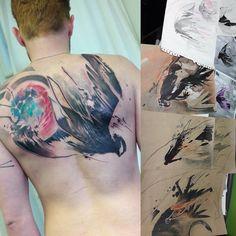 Martin Routa Bobek tattoo studio czech republic bird