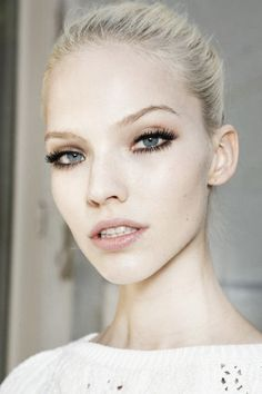 Sasha Luss backstage at Atelier Versace Fall/Winter 2013