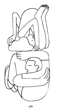 Not yoga as we know it. Lovely drawing by Geoff McFetridge. Art And Illustration, Illustrations Posters, Line Drawing, Painting & Drawing, Luba Lukova, Atelier Theme, Creation Art, Poster S, Arte Popular