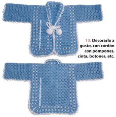 Hello girls What a beautiful day today? We are today girls with this fantastic crochet jacket, for those cold and intense days, for you t. Crochet Baby Jacket, Crochet Baby Clothes, Crochet Baby Hats, Baby Knitting, Baby Cardigan, Baby Pullover, Easy Sweater Knitting Patterns, Preemie Crochet, Crochet For Boys